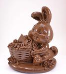 Большой зайка шоколадный с цветами